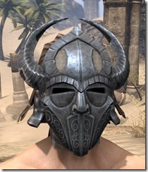 Silken Ring Iron Helm - Male Front