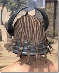 Silken Ring Iron Helm - Male Rear