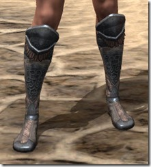 Silken Ring Iron Sabatons - Female Front