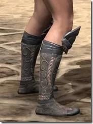 Silken Ring Iron Sabatons - Female Right
