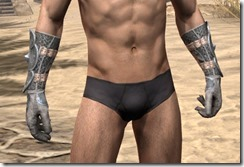 Telvanni Iron Gauntlets - Male Front