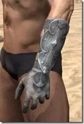 Telvanni Iron Gauntlets - Male Side