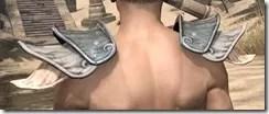 Telvanni Iron Pauldron - Male Rear