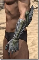 Ancient Elf Iron Gauntlets - Male Side