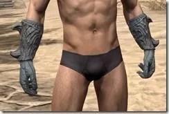 Ashlander Iron Gauntlets - Male Front