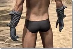 Ashlander Iron Gauntlets - Male Rear