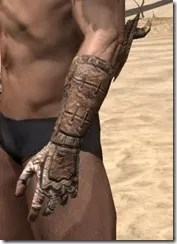Barbaric Iron Gauntlets - Male Side