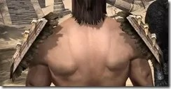 Barbaric Iron Pauldron - Male Rear
