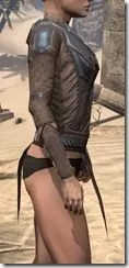 Dark Brotherhood Iron Cuirass - Female Right