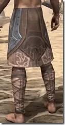 Dark Brotherhood Iron Greaves - Male Rear