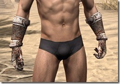 Draugr Iron Gauntlets - Male Front
