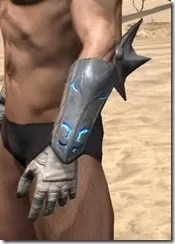 Dro-m'Athra Iron Gauntlets - Male Side