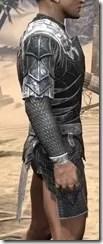 Ebony Iron Cuirass - Male Right