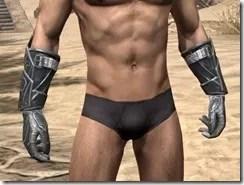 Ebony Iron Gauntlets - Male Front
