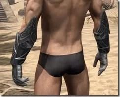 Ebony Iron Gauntlets - Male Rear