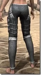 Ebony Iron Greaves - Female Rear