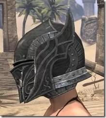 Ebony Iron Helm - Female Side