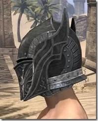Ebony Iron Helm - Male Side
