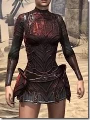Ebony (Old) Heavy Cuirass - Female Front