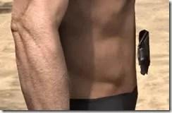 Ebony Rawhide Belt - Male Right