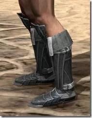 Ebony Rawhide Boots - Male Side