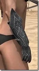Ebony Rawhide Bracers - Female Right