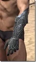 Ebony Rawhide Bracers - Male Side