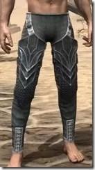 Ebony Rawhide Guards - Male Front
