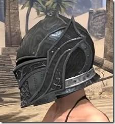 Ebony Rawhide Helmet - Female Side