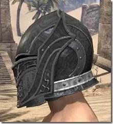 Ebony Rawhide Helmet - Male Side
