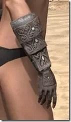 Minotaur Rawhide Bracers - Female Right