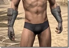 Minotaur Rawhide Bracers - Male Front