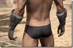 Minotaur Rawhide Bracers - Male Rear