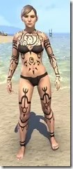 Necrmatic Sigil Body Tattoos - Female Front