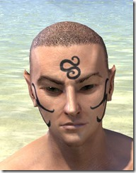 Necromatic Sigil Face Tattoos - Male Front