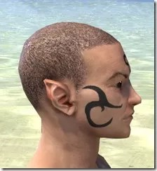 Necromatic Sigil Face Tattoos - Male Side