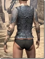 Order of the Hour Iron Cuirass - Female Rear