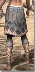 Order of the Hour Iron Greaves - Female Rear