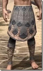 Order of the Hour Iron Greaves - Male Front