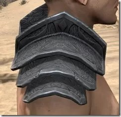 Order of the Hour Iron Pauldron - Male Right