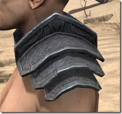 Order of the Hour Iron Pauldron - Male Side