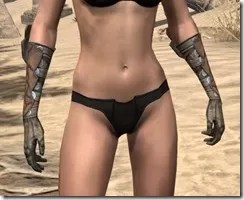 Outlaw Rawhide Bracers  - Female Front