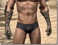 Outlaw Rawhide Bracers  - Male Front