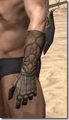 Outlaw Rawhide Bracers  - Male Side