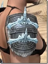 Stahlrim Frostcaster Iron Pauldron - Female Right
