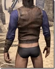 Vested Shirt and Cuffs - Male Rear