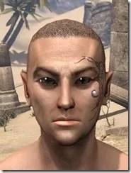 Eye-Briar Gemmed Tattoo Male Front