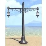 Alinor Streetlight, Paired Wrought Iron