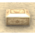 Scrimshaw Jewelry Box, Floral