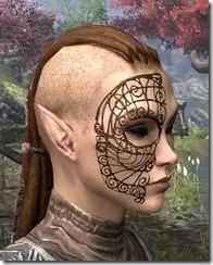 Wire Cage Half-Mask Female Side